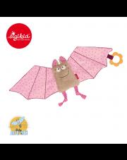 SIGIKID Przytulaczek - komforter Różowy nietoperz z gryzakiem