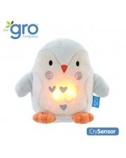 Pingwin Percy Szumiąca Przytulanka z czujnikiem płaczu i lampką nocną, Gro Company