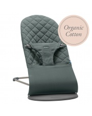 BABYBJORN - leżaczek BLISS COTTON Organic - Greyish Green