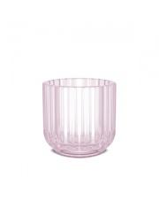 Świecznik szklany - pink / różowy - Lyngby
