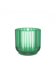 Świecznik szklany - green / zielony - Lyngby