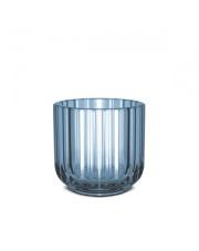Świecznik szklany - blue / niebieski - Lyngby
