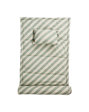 Mata plażowa z poduszką - miętowe paski - Bloomingville