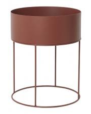 Kwietnik okrągły PLANT BOX - brązowy / red brown - ferm LIVING