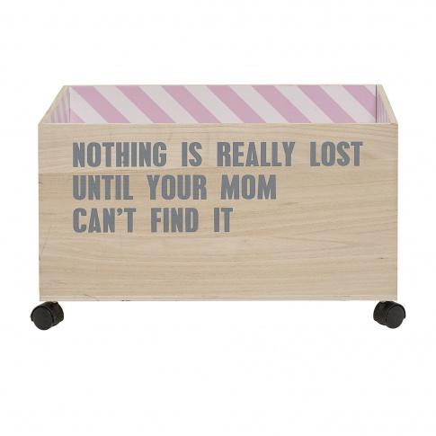 Fotografia, na której jest Pudełko na zabawki w różowe paski - Bloomingville