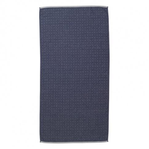 Fotografia, na której jest Ręcznik bawełniany SENTO - niebieski - ferm LIVING