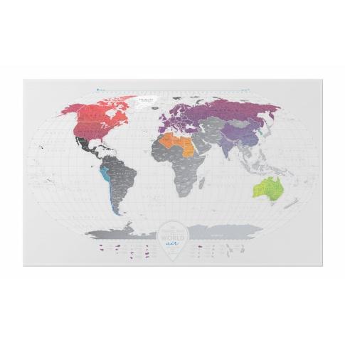 Fotografia, na której jest Mapa Zdrapka - Mapa Świata - Travel Map™ Air World