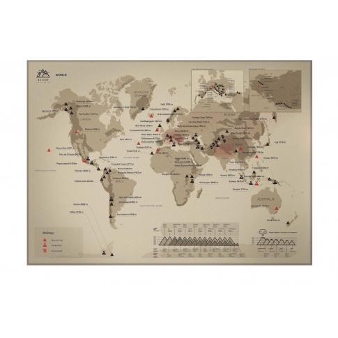 Fotografia, na której jest Mapa Zdrapka - Mapa Świata - Kuluar