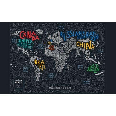 Fotografia, na której jest Mapa Zdrapka - Mapa Świata - Travel Map™ Letters World