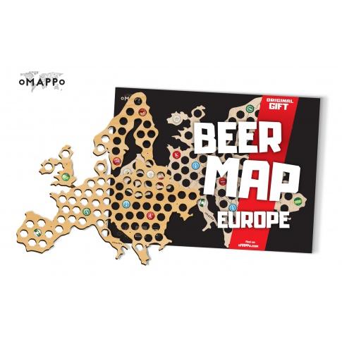 Fotografia, na której jest Mapa Piwosza - Europa - oMAPPo