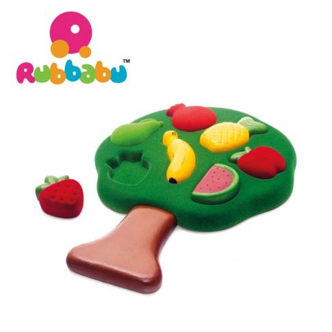 Fotografia, na której jest Rubbabu Sorter Puzzle 3D Owoce sensoryczny