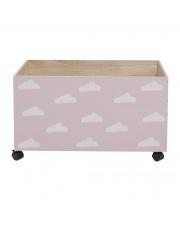 Pudełko na zabawki różowe w chmurki - Bloomingville