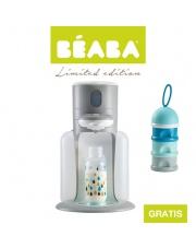 Beaba Zestaw Bib'expresso® Ekspres do mleka 3w1 grey z pojemnikiem na mleko w proszku blue - OFERTA LIMITOWANA