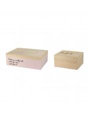 Zestaw dwóch różowych pudełek - Bloomingville