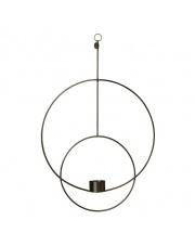 Świecznik wiszący DECO  - czarny - ferm LIVING | okrągły