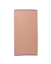 Ręcznik bawełniany SENTO - różowy - ferm LIVING
