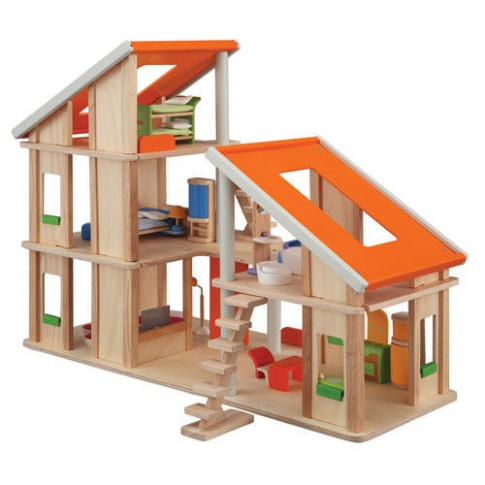 Fotografia, na której jest Domek dla lalek z mebelkami, Plan Toys®