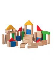 Drewniane klocki drewniane, kolorowe (50 sztuk), Plan Toys®