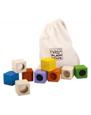 Klocki sensoryczne, interaktywne w woreczku, Plan Toys®