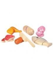 Drewniany zestaw mięs, zabawa w gotowanie, Plan Toys®