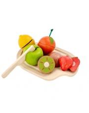 Drewniane owoce z deską do krojenia, Plan Toys®