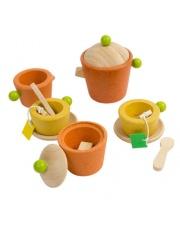 Serwis do herbaty, drewniany zestaw do zabawy, Plan Toys®