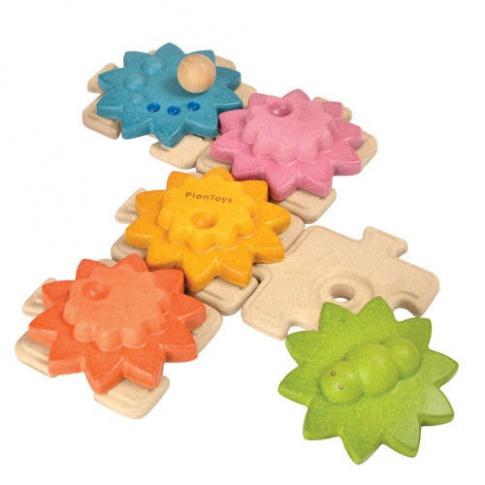 Fotografia, na której jest Puzzle koła zębate standard, Plan Toys®