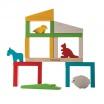 Fotografia, na której jest Zbuduj zoo, układanka drewniana, Plan Toys®