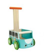 Drewniany chodzik niebieski van - walker, Plan Toys®
