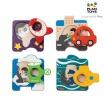 Fotografia, na której jest Drewniane puzzle pojazdy, Plan Toys®