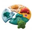 Fotografia, na której jest Układanka - puzzle zwierzęta morskie, Plan Toys®