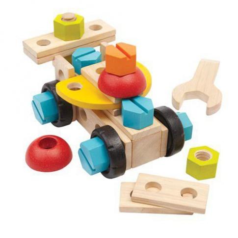 Fotografia, na której jest Zestaw konstrukcyjny 40 części, Plan Toys®