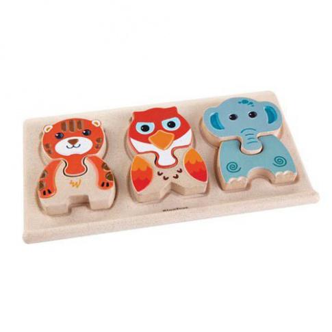 Fotografia, na której jest Drewniane puzzle zwierzątka, Plan Toys®