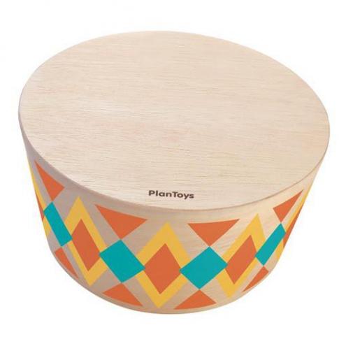 Fotografia, na której jest Drewniany bęben rytmiczny   Plan Toys®