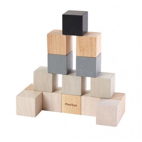 Fotografia, na której jest Drewniane klocki, Kostki 15el. | Plan Toys®