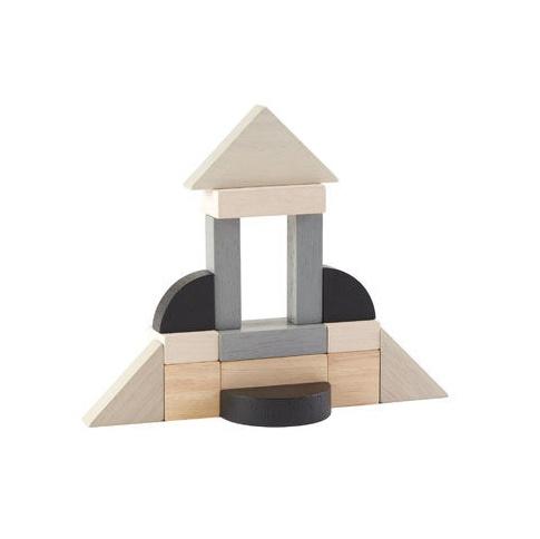 Fotografia, na której jest Drewniane klocki do nauki ułamków, styl nowoczesny, 15el.,Plan Toys