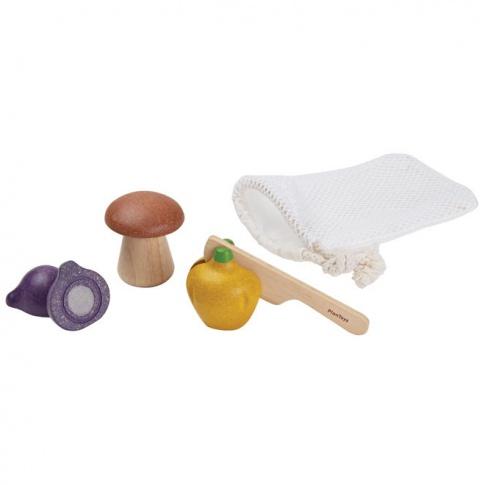Fotografia, na której jest Warzywa do krojenia, 3 el., Plan Toys