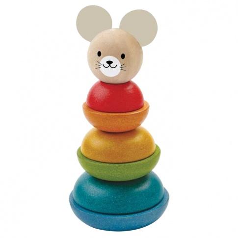 Fotografia, na której jest Myszka - wieża do układania, Plan Toys