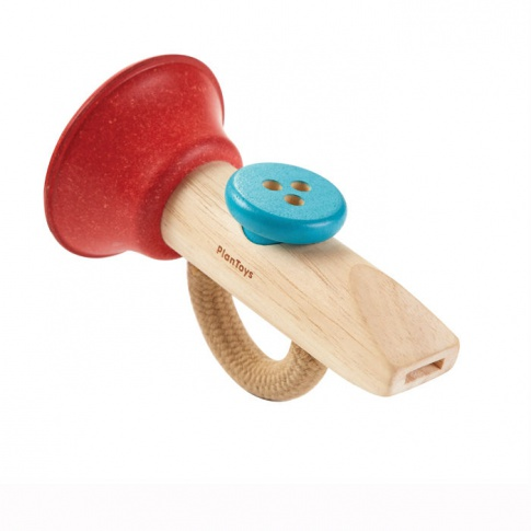 Fotografia, na której jest Drewniany instrument Kazoo, Plan Toys
