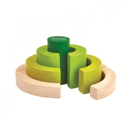 Fotografia, na której jest Drewniane klocki, nauka ułamków | Plan Toys®