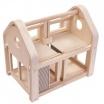 Fotografia, na której jest Składany, drewniany domek dla lalek | Plan Toys®
