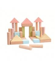 Klocki drewniane 40 szt., seria pastelowa | Plan Toys®