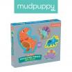 Fotografia, na której jest Mudpuppy Puzzle sensoryczne Potężne dinozaury 1+