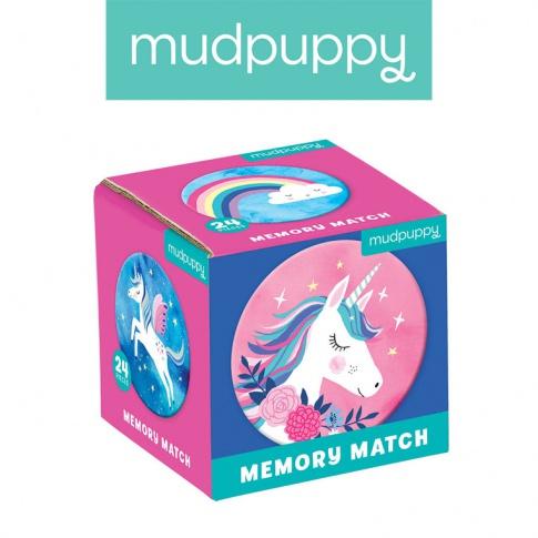 Fotografia, na której jest Mudpuppy Gra Mini Memory Magiczne jednorożce
