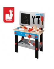 Stolik warsztat drewniany magnetyczny z 24 elementami Brico 'Kids kolekcja 2018, Janod