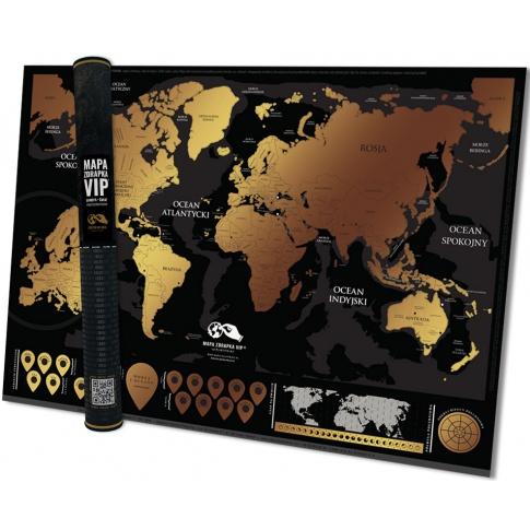 Fotografia, na której jest Mapa zdrapka VIP - mapsy.me