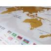 Fotografia, na której jest Mapa zdrapka GOLD Flagi - Playprint