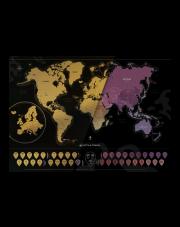 Mapa zdrapka Świat Scratch&Travel - mapsy.me