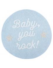 Dywan okrągły BABY, YOU ROCK! - Mr Wonderful & Lorena Canals