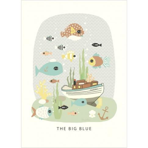 Fotografia, na której jest Plakat The Big Blue - Majvillan